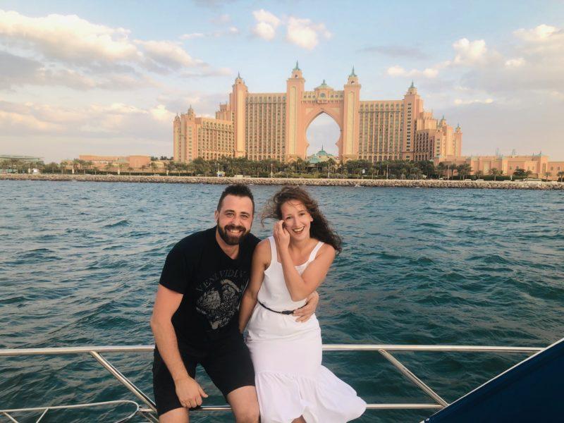 Top 5 atrakcji Dubaju - Atlantis widziany z Zatoki Perskiej.