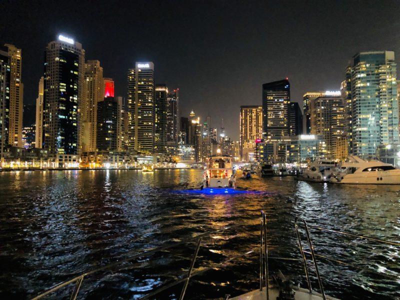 Top 5 atrakcji Dubaju - Marina nocą